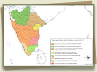 1350 Map of South India
